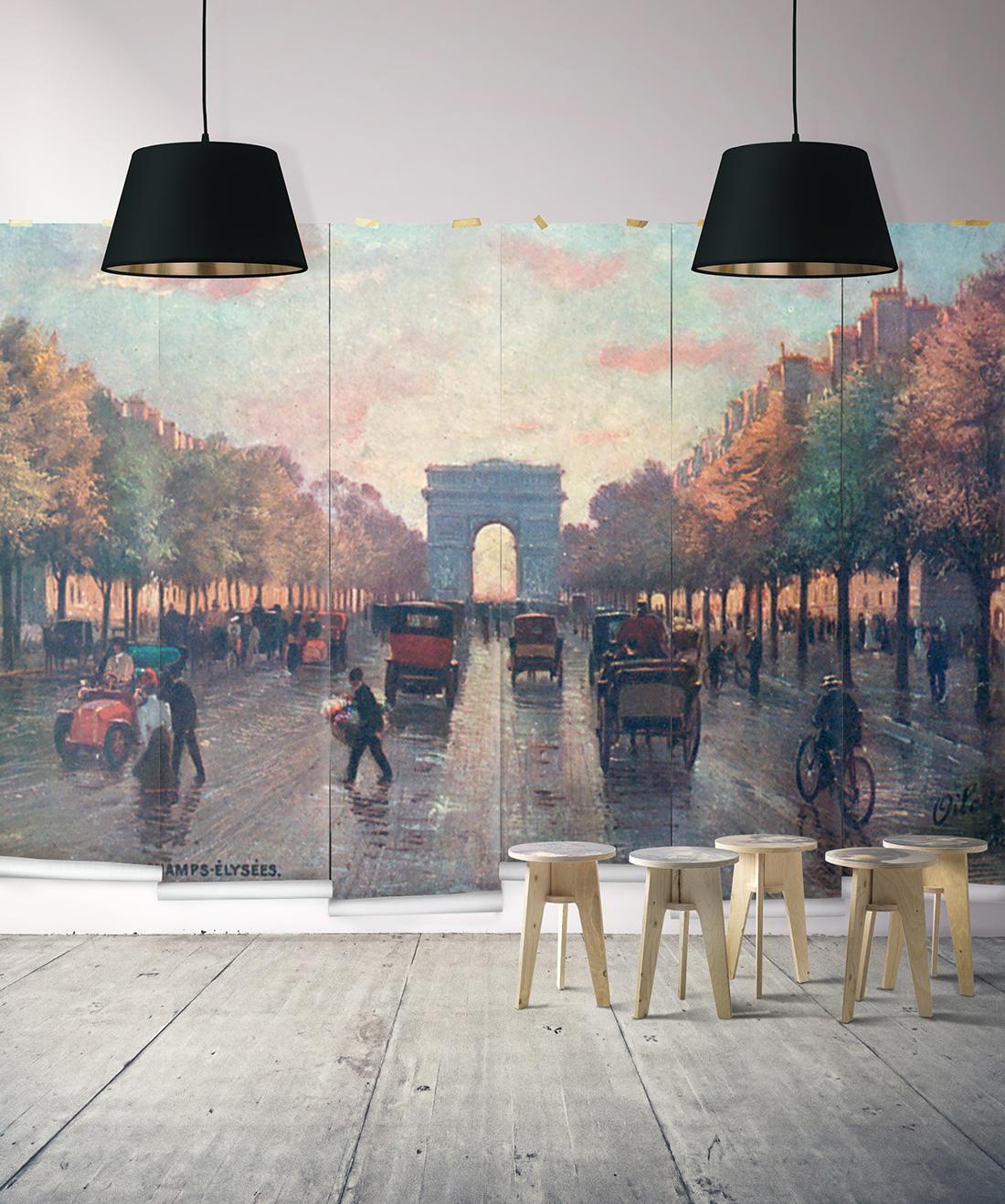 Champs-Élysées Mural