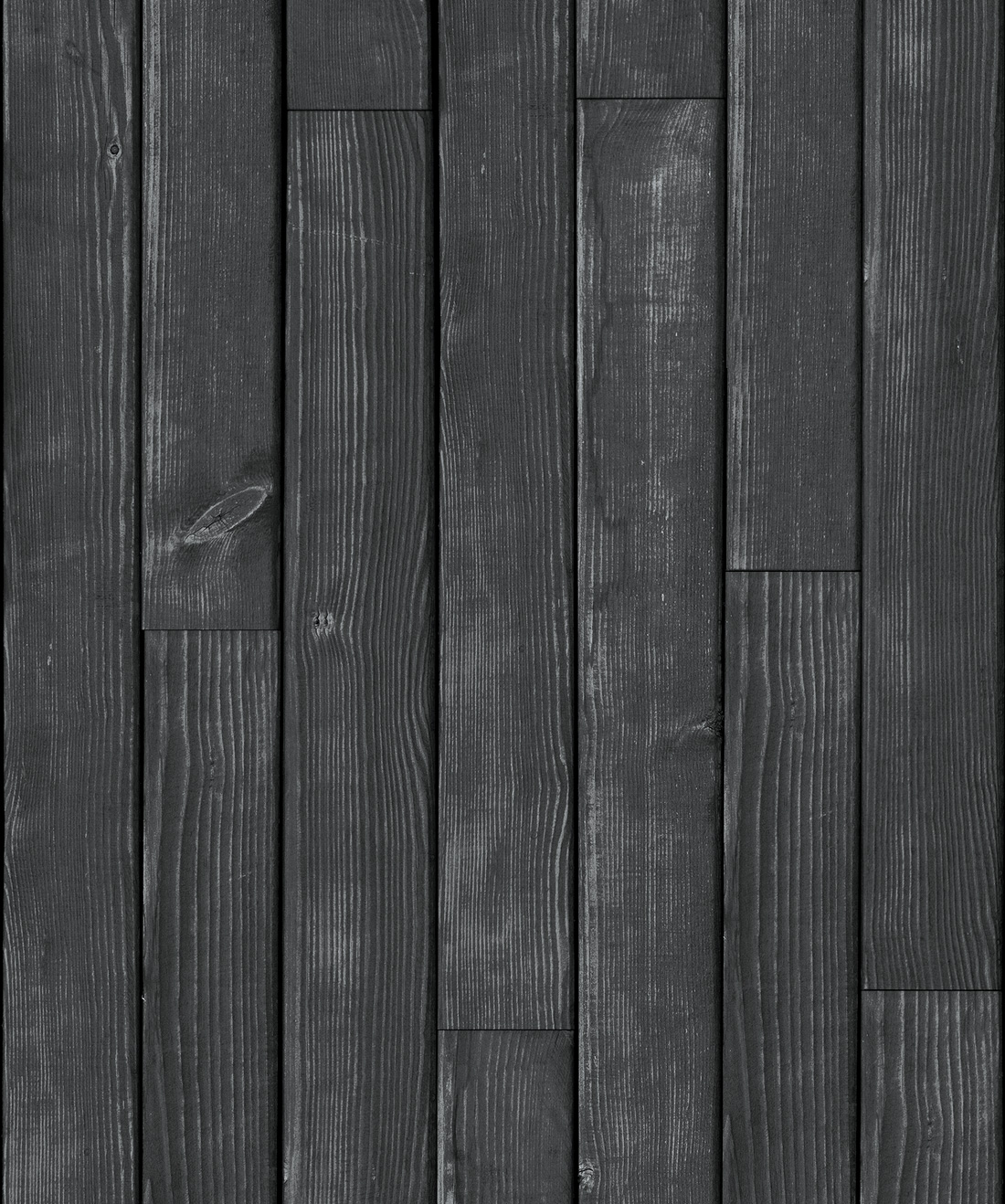 Black Wooden Boards Wallpaper