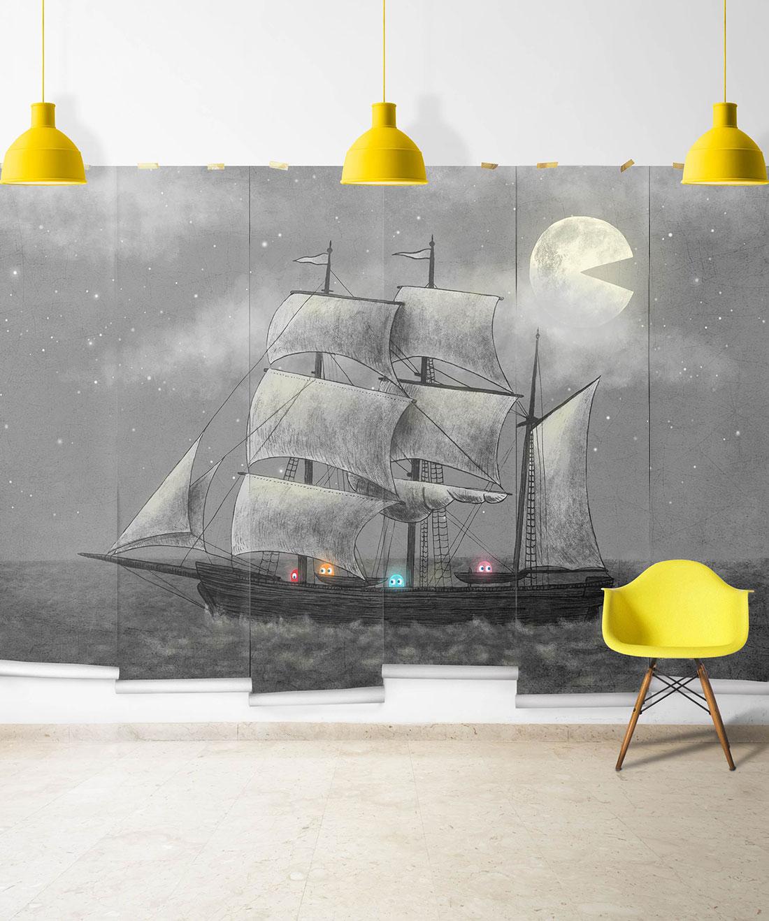 Ghost Ship Mural