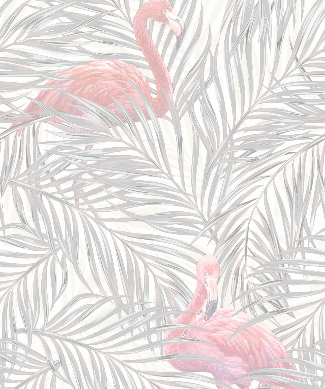 Tropical Flamingos Subtle