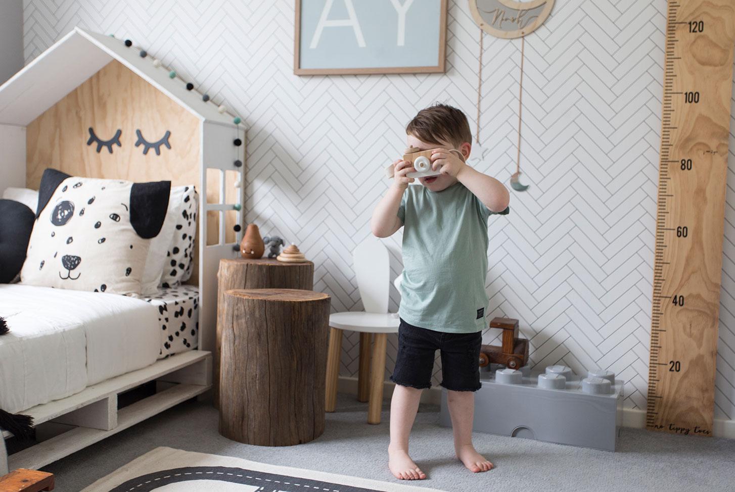 White Wallpaper, Designer Wallpaper, Herringbone Wallpaper, Kids Room, Boys Room