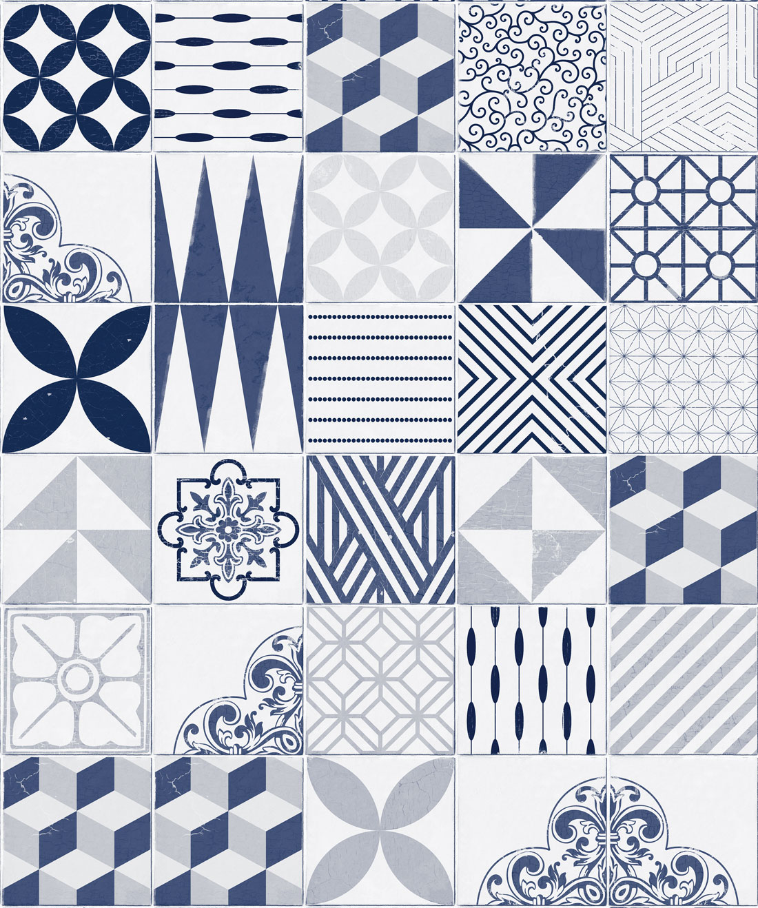 Cement Tiles Wallpaper