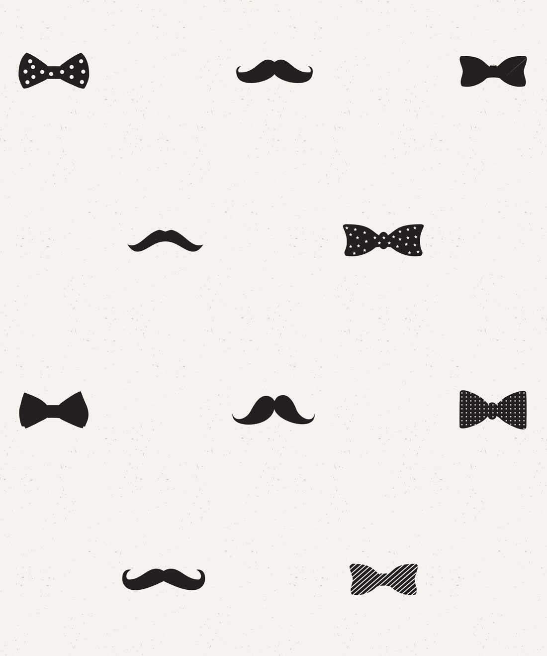 Bow Ties & Moustaches Wallpaper