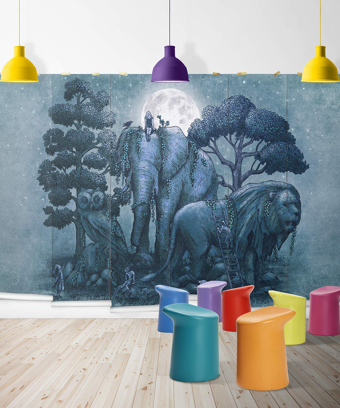 Midnight in the Stone Garden Mural