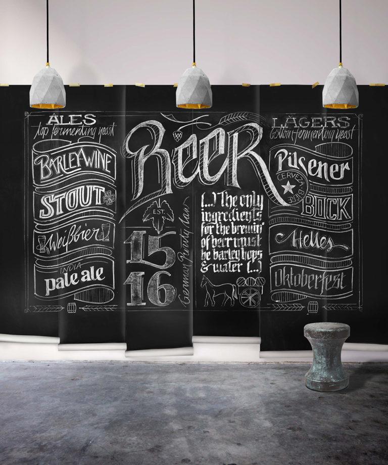 Beer Chalkboard Mural