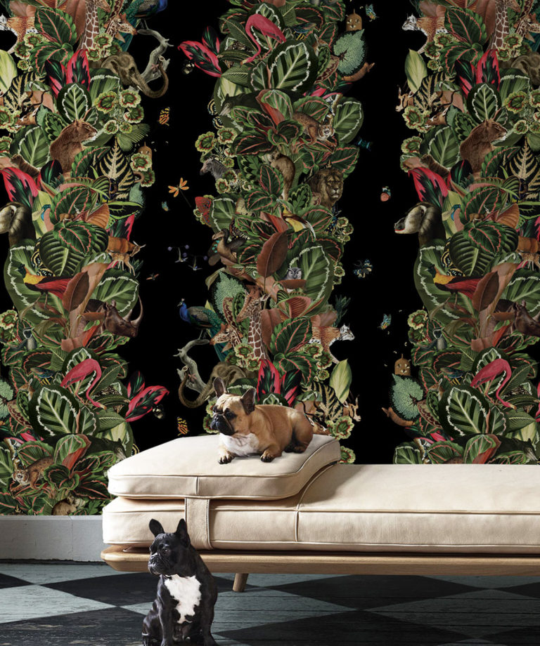 Viva Tropicana, Tropical Wallpaper Black