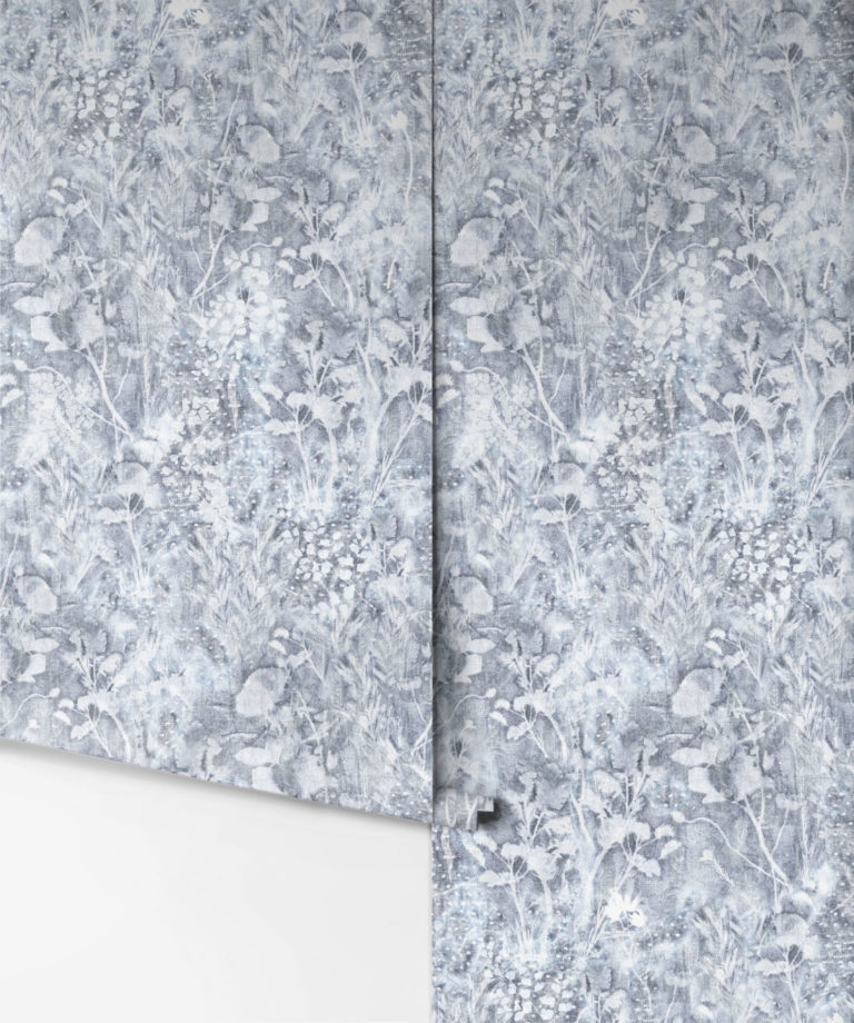Carmella Grey Floral Wallpaper | Milton & King