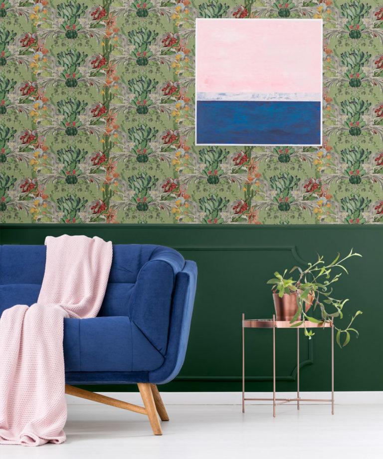 Cactus wallpaper Green - Designer Collection