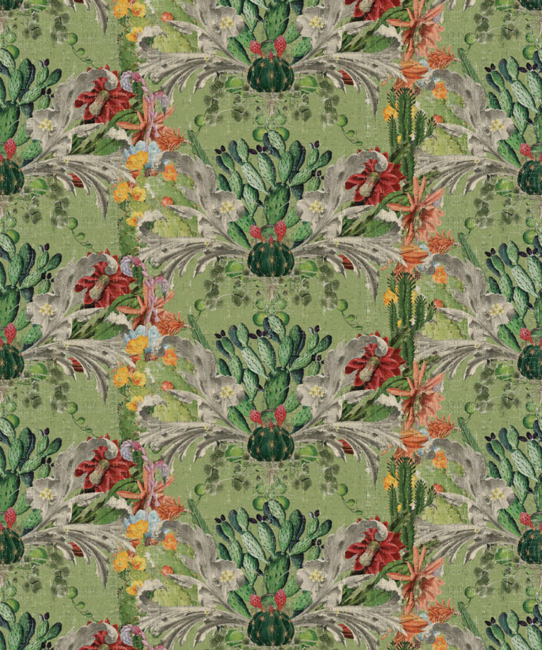 Cactus wallpaper Green - Designer Collection