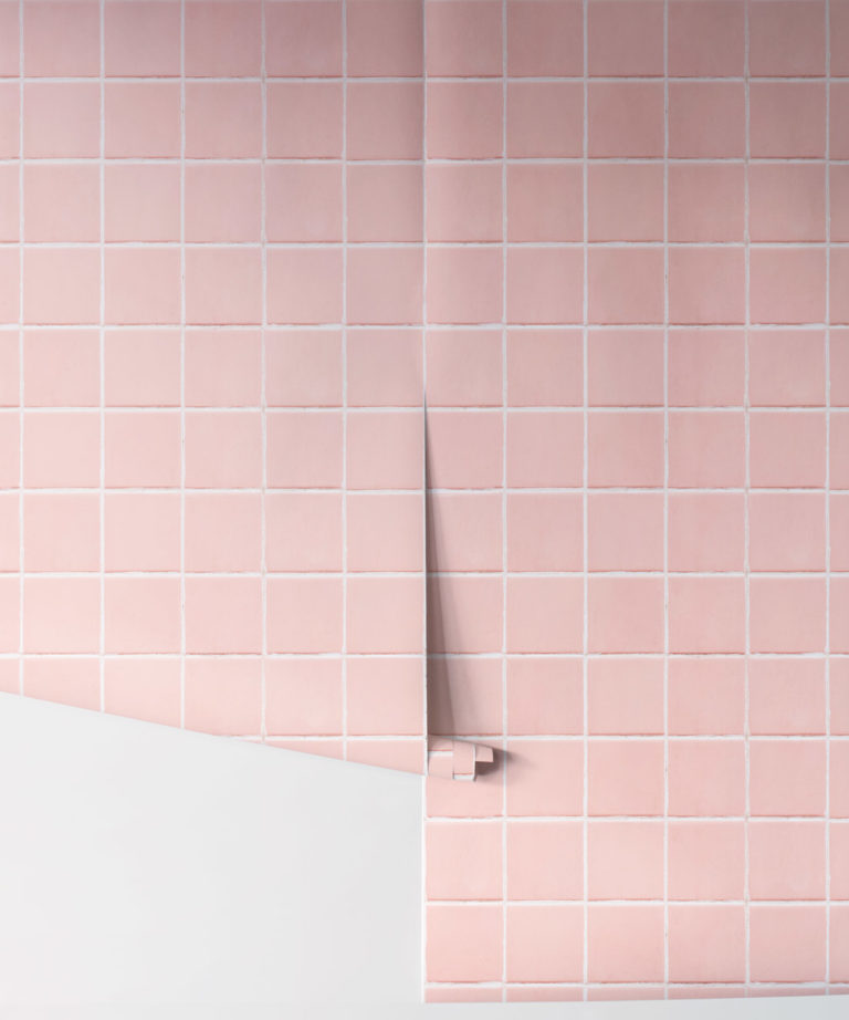 Pink tiles Wallpaper Rolls