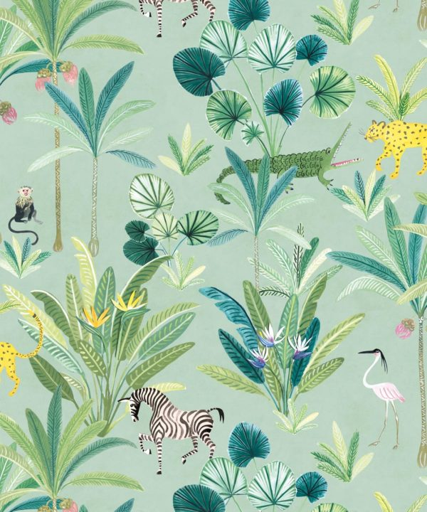 Jungle Wallpaper, Animal Kingdom by Bethany Linz