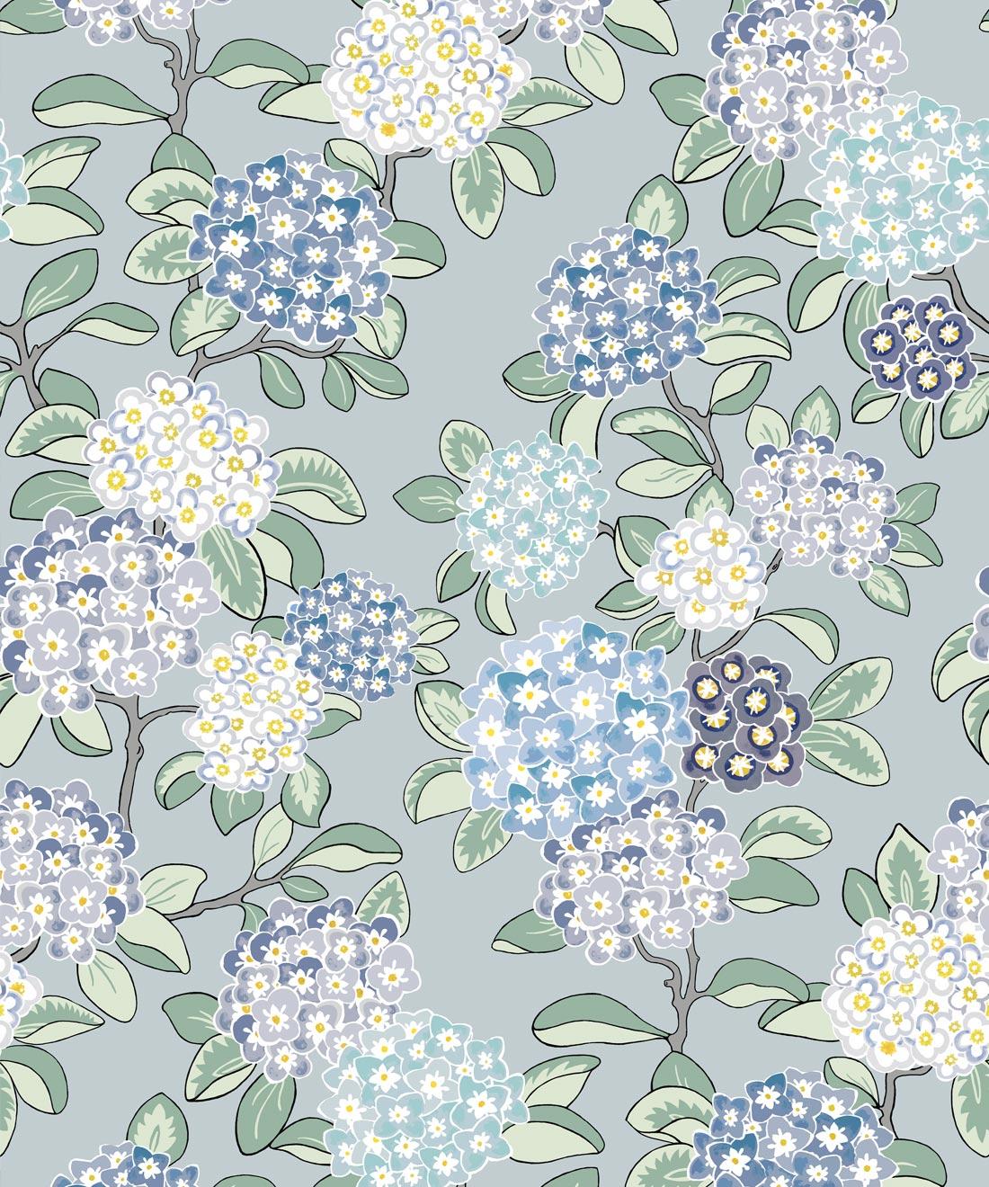 Modern Floral Wallpaper Hydrangea Wallpaper Milton King