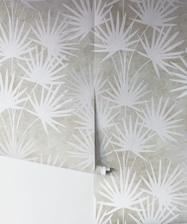 Oriental Palm leaf wallpaper Beige
