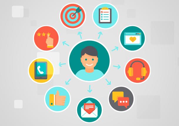 fidelizar clientes com conteúdo - imagem ícones
