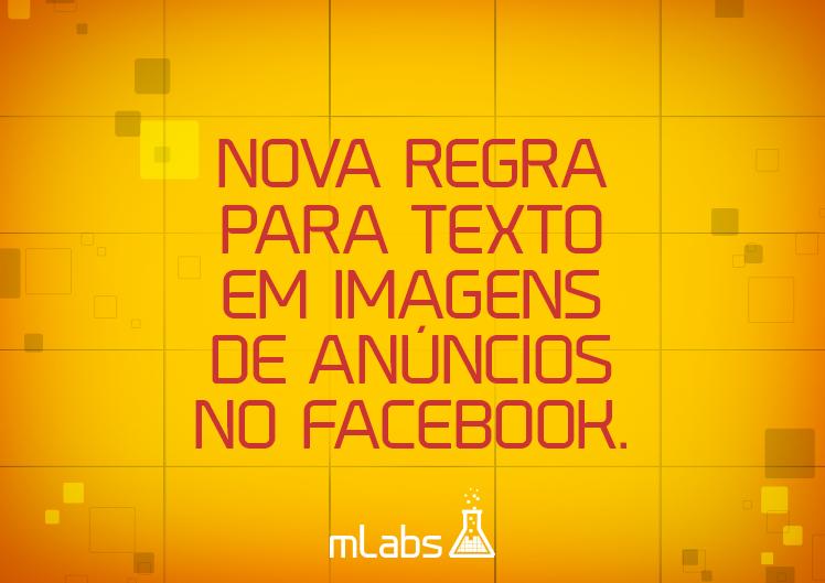 nova regra texto imagens facebook