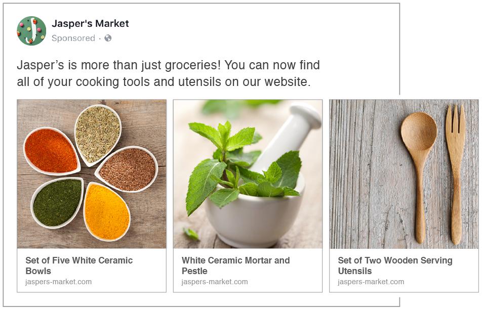 Guia anúncios - carrossel no Facebook