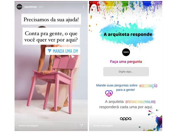 Instagram Stories: imagem de dois Stories com stickers