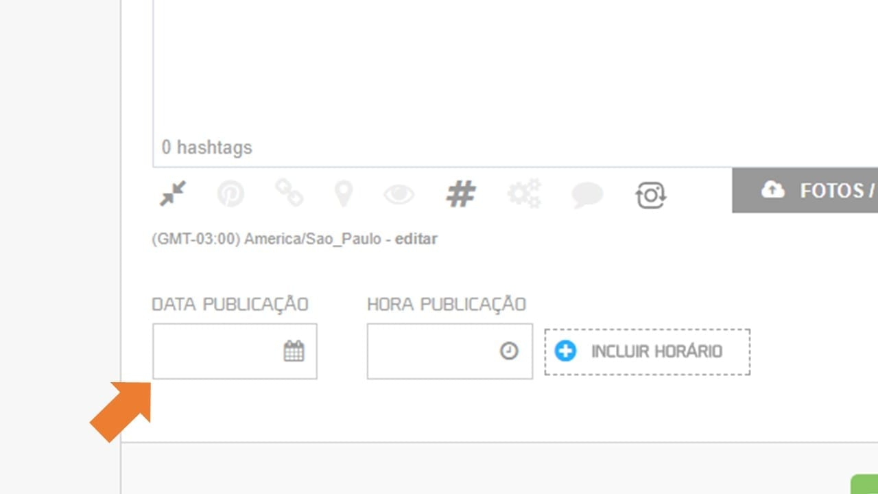 agendar post no instagram stories - escolha a data e o horário