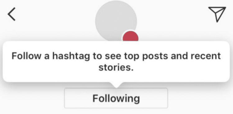 atualizações do instagram - seguir hashtags