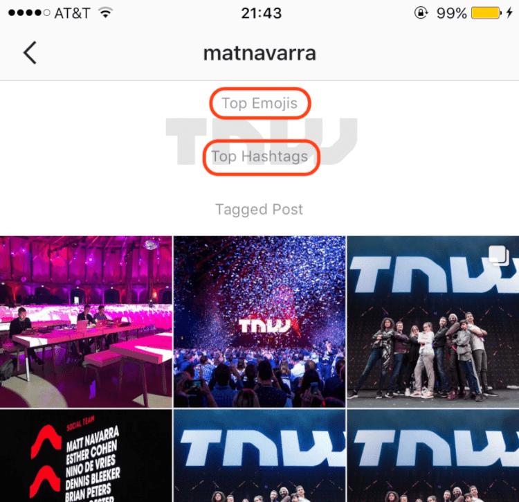 atualizações do instagram - top emojis e top hashtags