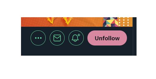 O que é Twitter: foco no botão de unfollow, que fica em tom rosado quando você coloca o cursor do mouse sobre ele.