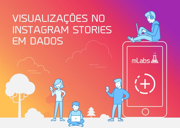 Visualizações Instagram Stories Dados - Infográfico mlabs