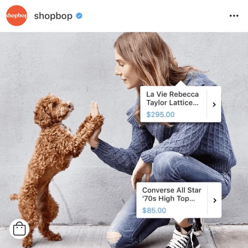 loja no instagram