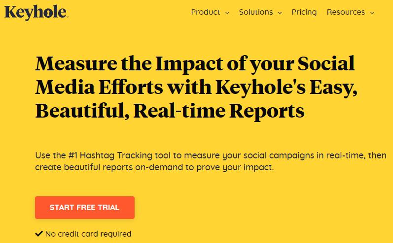 ferramenta de monitoramento de redes sociais: imagem do site keyhole