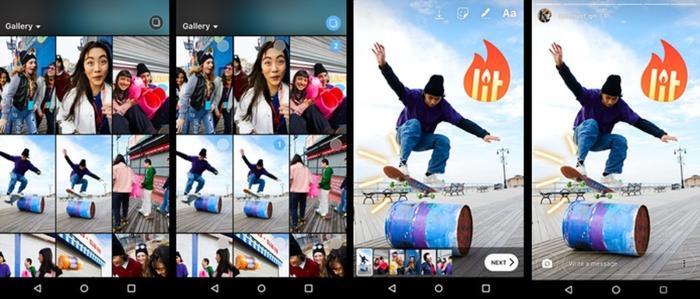 Postar várias fotos e vídeos no Instagram Stories