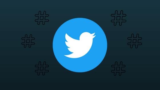 como usar hashtags no twitter - imagem com logo do twitter
