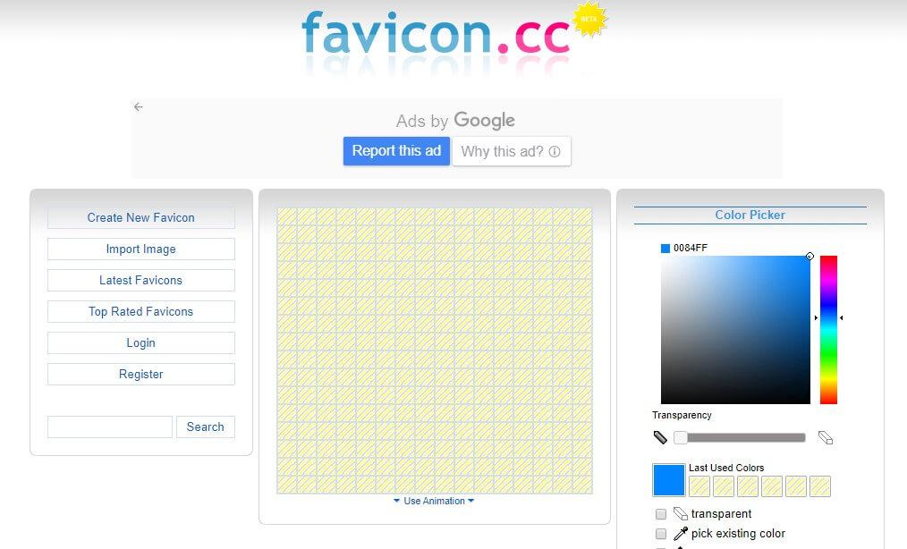 App para criar imagens para Instagram: imagem da página do Favicon