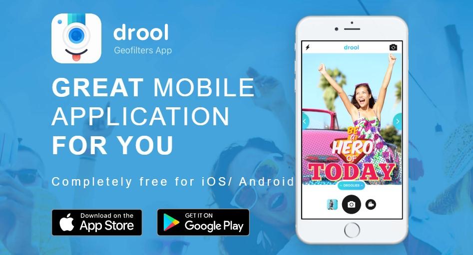 App para criar imagens para Instagram: imagem do aplicativo Drool na Play Store