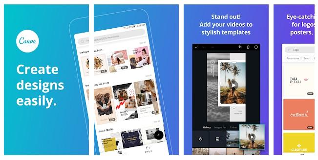 App para criar imagens para Instagram: imagem do aplicativo Canva na Play Store