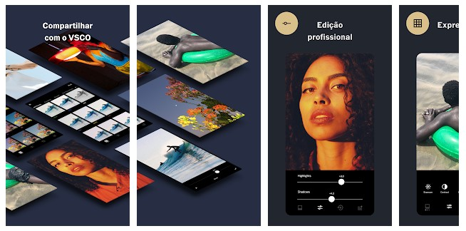 App para criar imagens para Instagram: imagem do aplicativo VSCO na Play Store