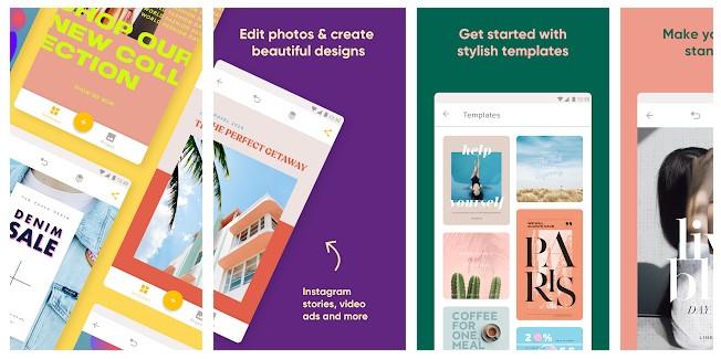 App para criar imagens para Instagram: imagem do aplicativo Over na Play Store