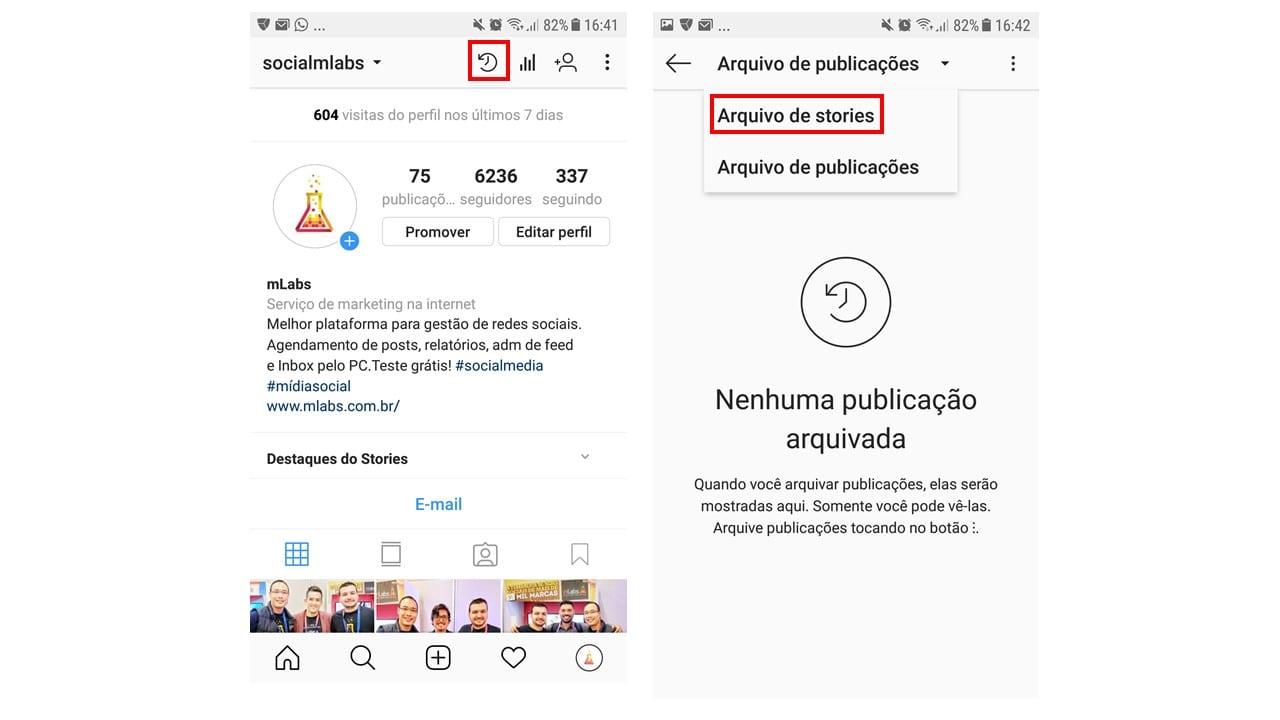 salvar stories do instagram