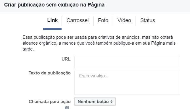 criar-facebook-dark-posts