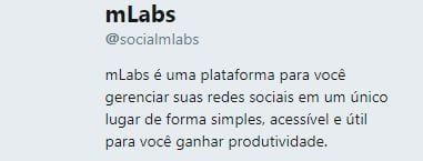 bio no twitter mlabs