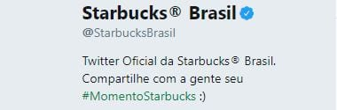 bio no twitter starbucks