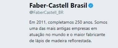 bio no twitter faber castell