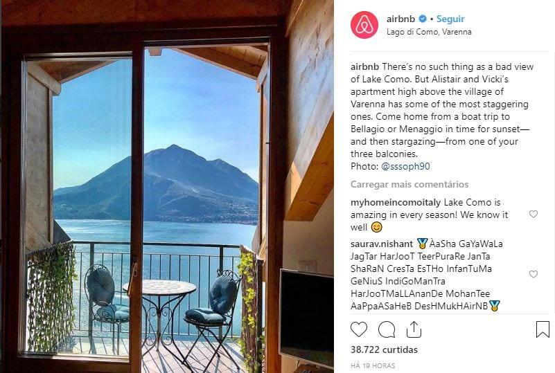 airbnb perfil no instagram