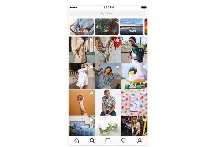 Instagram Shopping Explorar