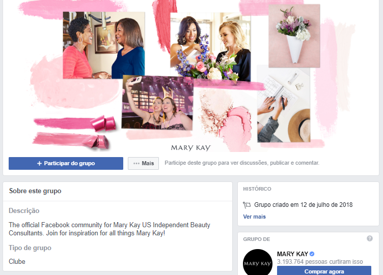 grupo de facebook mary kay