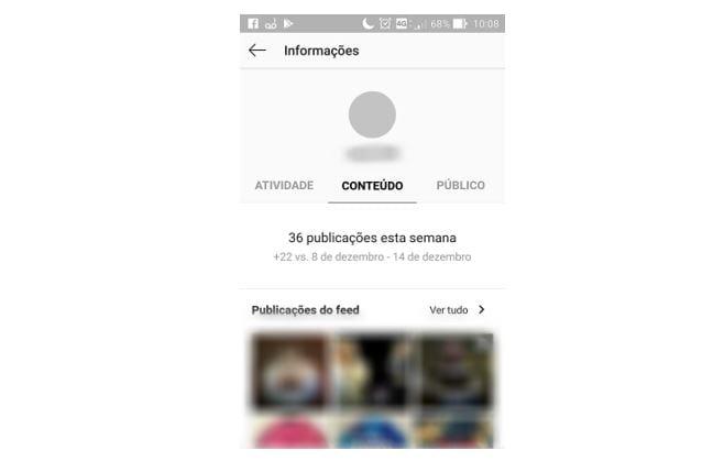instagram insights conteúdo