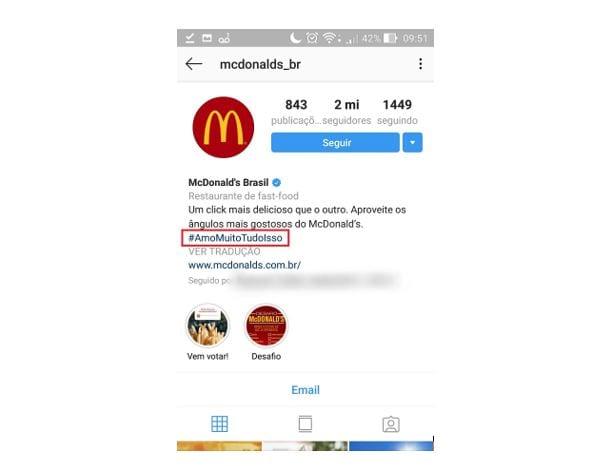 dicas de instagram hashtags na bio