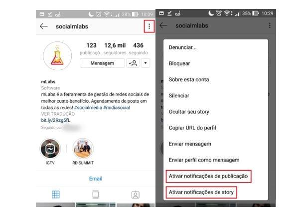 dicas de instagram ativar notificações de story