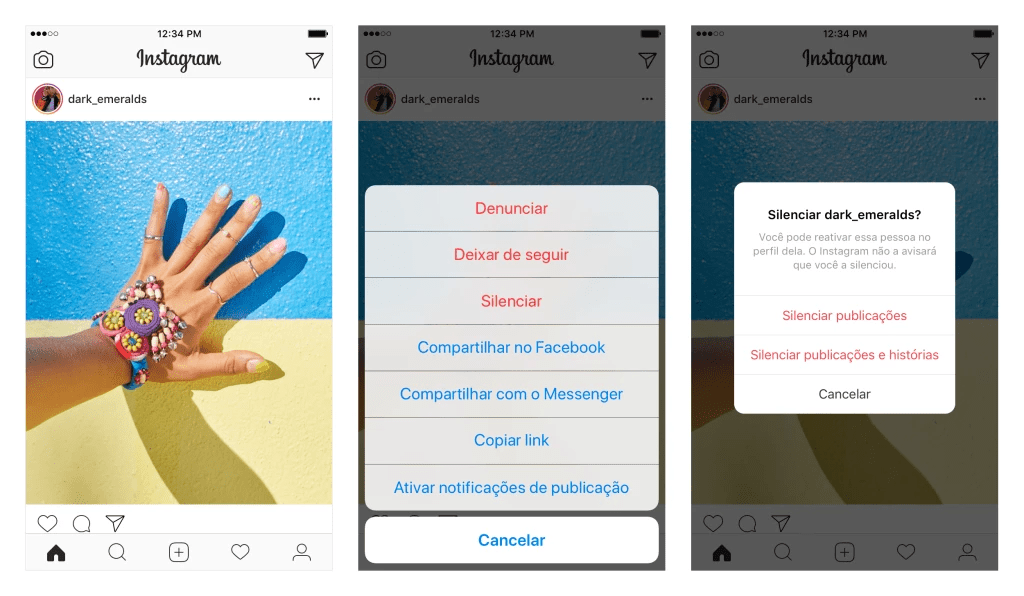 dicas de instagram silenciar