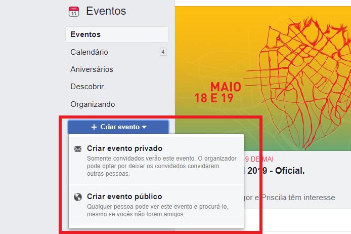 como criar evento no facebook 2