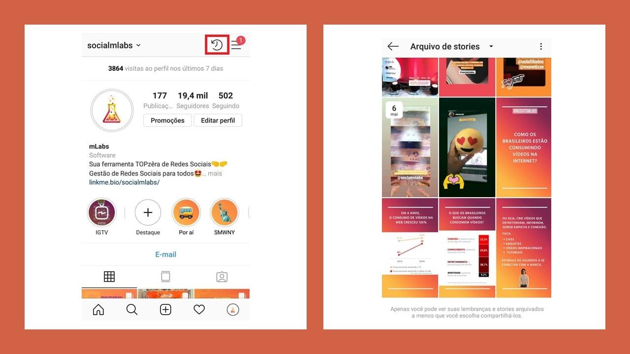 Destaques Instagram: imagem da tela do Instagram.