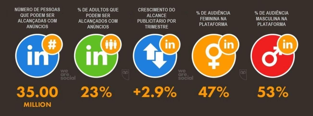 LinkedIn Analytics: imagem da Pesquisa Digital 2019 Brazil